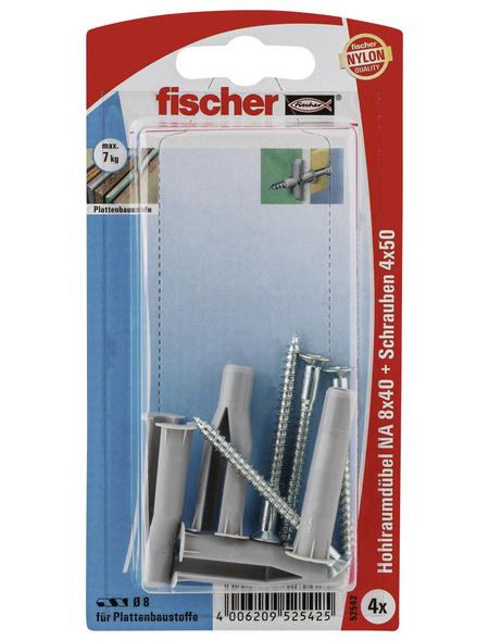 FISCHER Nietanker, 4 Stück, 8 x 40 mm