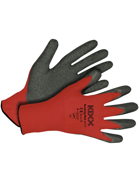 KIXX Nylonhandschuhe »Latex«, rot/grau