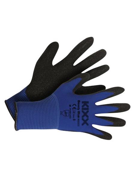 KIXX Nylonhandschuhe »Nylon/Latex«, blau/schwarz