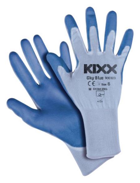KIXX Nylonhandschuhe »Nylon/Polyurethan«, blau/himmelblau