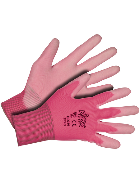 KIXX Nylonhandschuhe »Nylon/Polyurethan«, rosa/pink