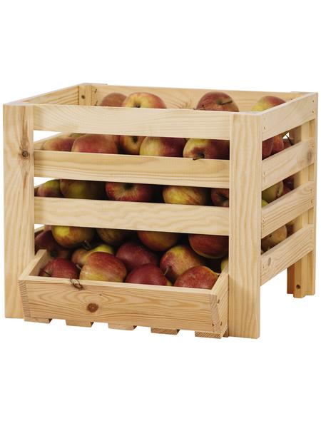 PROMADINO Obst- und Kartoffelhorde, BxHxL: 40 x 33 x 36 cm, Kiefernholz