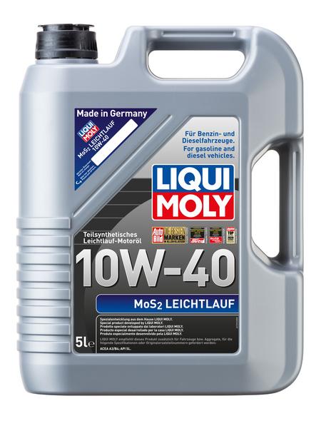 LIQUI MOLY Öl, 5 l, Kanister, MoS2 Leichtlauf 10W-40