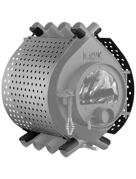 KANUK® Ofenverkleidung für Warmluftofen Kanuk Original 15 kW, BxL: 63 x 63 cm, Edelstahl