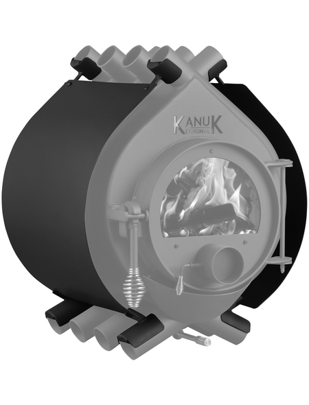 KANUK® Ofenverkleidung für Warmluftofen Kanuk Original 15 kW, BxL: 63 x 63 cm, Stahl