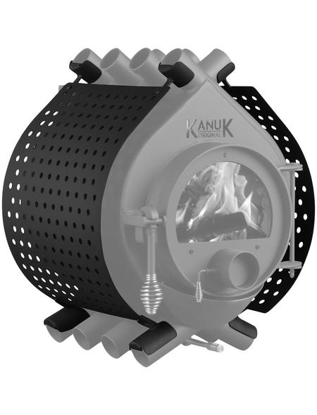 KANUK® Ofenverkleidung für Warmluftofen Kanuk Original 7 kW, BxL: 43 x 43 cm, Stahl