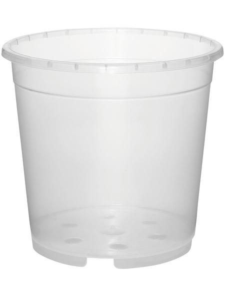 GELI Orchideentopf, Breite: 12 cm, transparent, Kunststoff