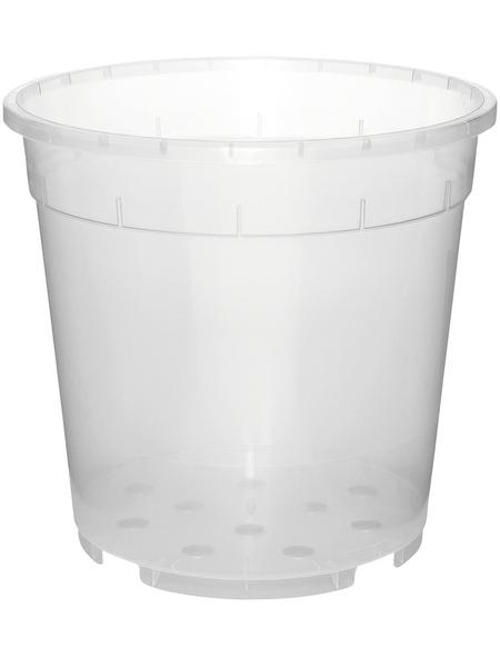 GELI Orchideentopf, Breite: 17 cm, transparent, Kunststoff
