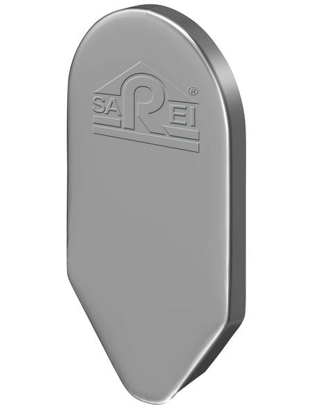 SAREI Ortblech-Abschlusskappe, BxL: 40 x 125 mm, Aluminium