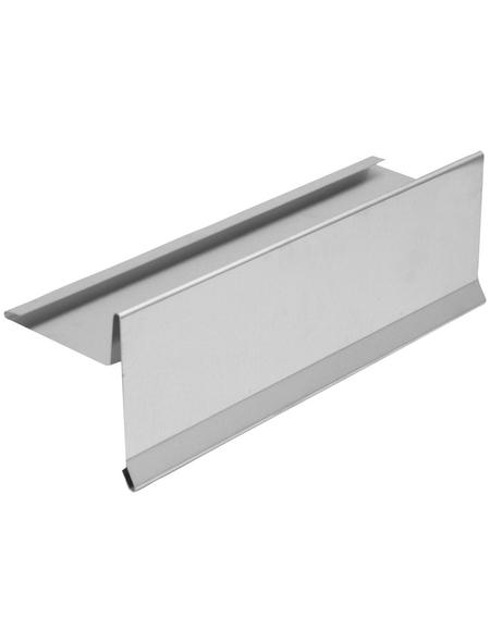 SAREI Ortblech, BxL: 105 x 1000 mm, Aluminium, mit Wasserfalz