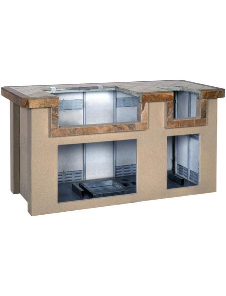 Outdoor-Küche, Stahl, braun/terrakottafarben, BxHxT: 193 x 99 x 84 cm
