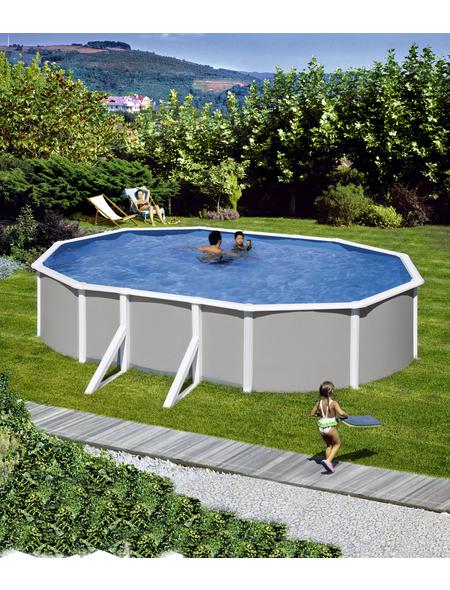 MYPOOL Ovalpool , oval, BxLxH: 375 x 610 x 120 cm