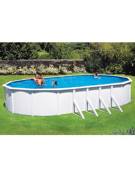 SUMMER FUN Ovalpool-Set,  oval, B x L x H: 375 x 730 x 120 cm