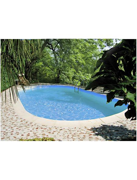 SUMMER FUN Ovalpool-Set,  oval, B x L x H: 400 x 800 x 150 cm