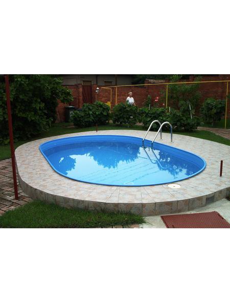 MYPOOL Ovalpool Set , oval, BxLxH: 350 x 700 x 120 cm