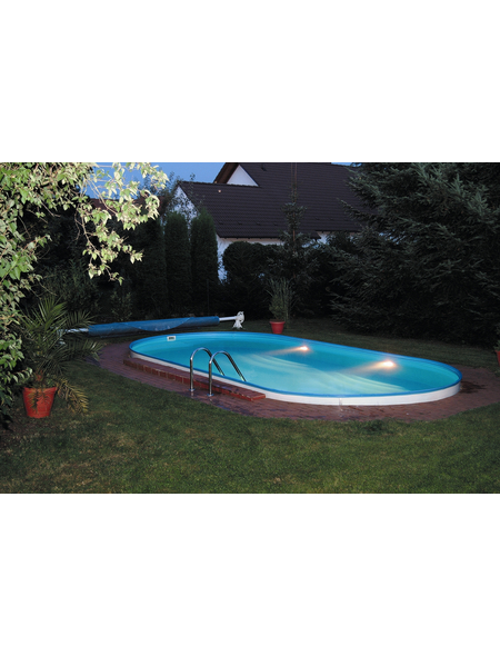 Ovalpool-Set,  oval, BxLxH: 350 x 700 x 135 cm