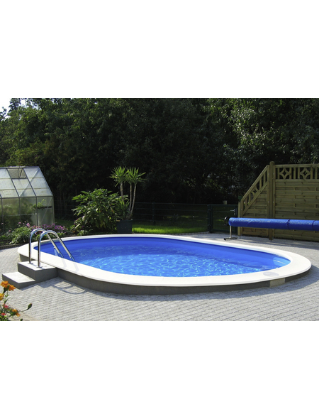 MYPOOL Ovalpool Set , oval, BxLxH: 400 x 800 x 150 cm