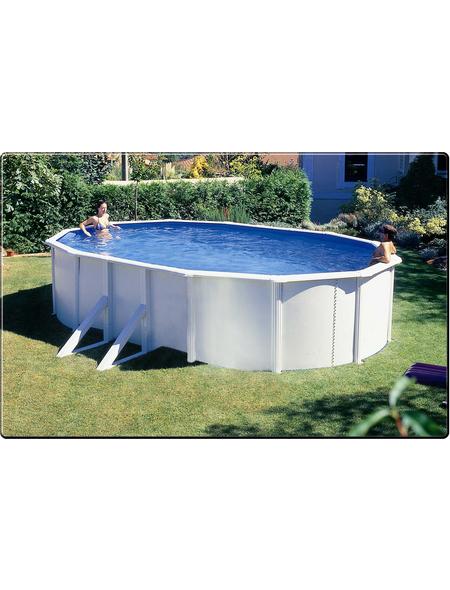 SUMMER FUN Ovalpool-Set Ovalformbeckenset , oval, BxLxH: 375 x 610 x 120 cm