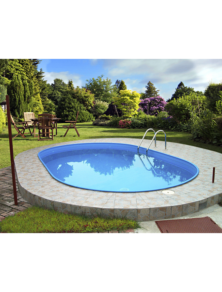 SUMMER FUN Ovalpool-Set Ovalformbeckenset , oval, BxLxH: 400 x 800 x 120 cm