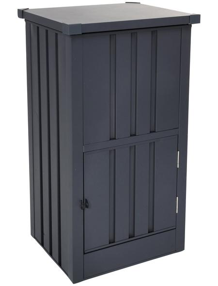 FLORAWORLD Paketbox, Stahl, anthrazit, BxHxT: 63 x 109 x 55 cm