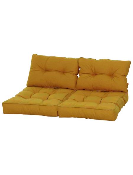 SIENA GARDEN Palettenkissen »Almaaz«, gelb, Uni, BxL: 80 x 60 cm