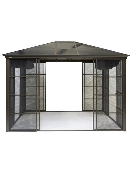 SOJAG Pavillon »Castel«, Walmdach, rechteckig, BxT: 362 x 298 cm, inkl. Dacheindeckung