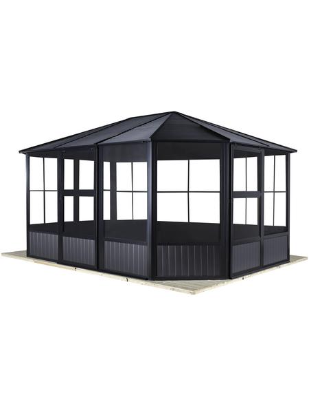 SOJAG Pavillon »Charleston«, Ovaldach, oval, BxT: 384 x 384 cm, inkl. Dacheindeckung