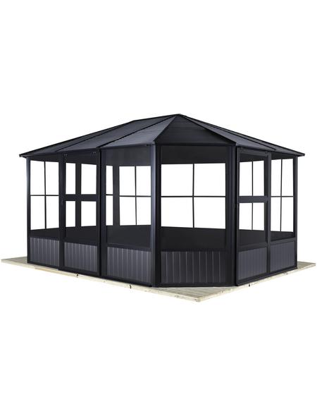 SOJAG Pavillon »Charleston«, Ovaldach, oval, BxT: 489 x 384 cm, inkl. Dacheindeckung