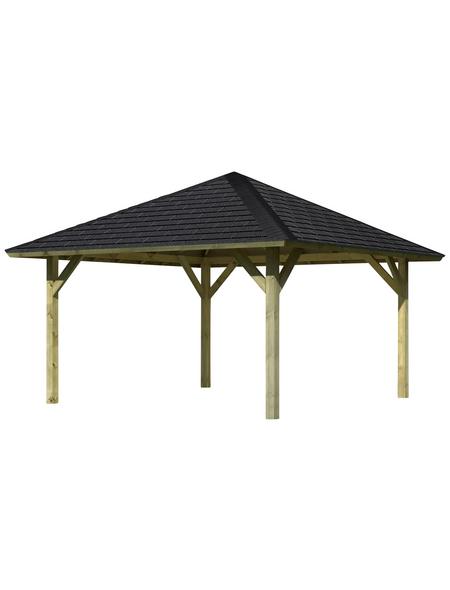 KARIBU Pavillon »Holm 1«, Walmdach, quadratisch, BxT: 431 x 431 cm, inkl. Dacheindeckung