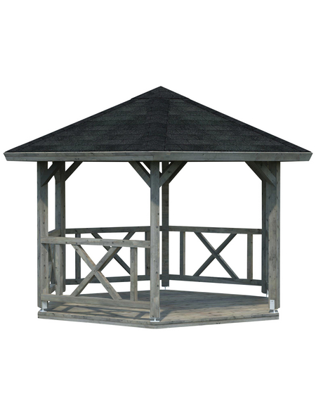 PALMAKO AS Pavillon »Kreta«, Zeltdach, sechseckig, BxT: 488 x 423 cm