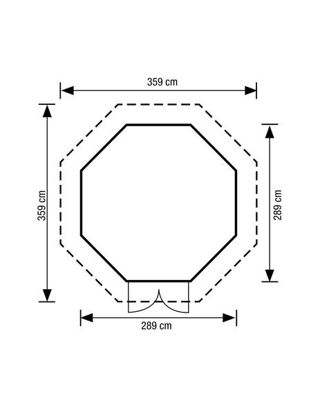 MR. GARDENER Pavillon »Lövanger 2«, Spitzdach, achteckig, BxT: 359 x 359 cm, ohne Dacheindeckung