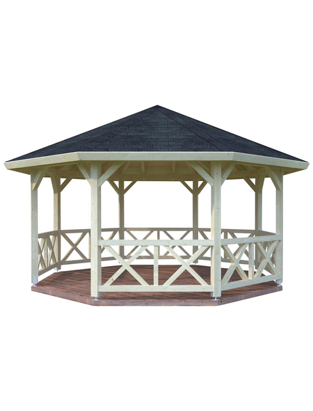 PALMAKO AS Pavillon »Rhodos«, Spitzdach, achteckig, BxT: 551 x 551 cm, ohne Dacheindeckung