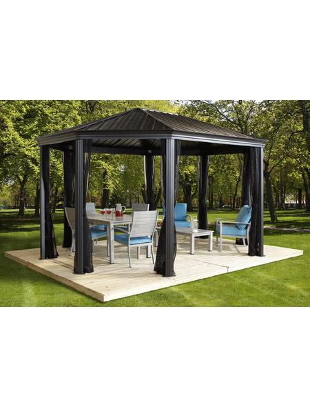 SOJAG Pavillon, satteldach|achteckig, achteckig, B x T: 546 x 363 cm