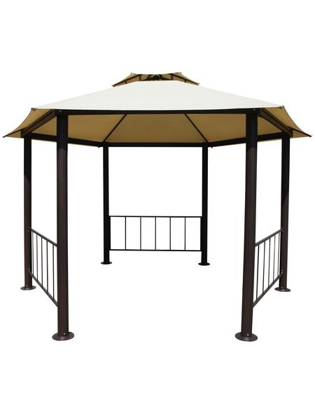 LECO Pavillon, Sechseckdach, sechseckig, BxT: 395 x 395 cm, inkl. Dacheindeckung
