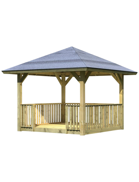 KARIBU Pavillon-Set »Bergen 1«, Walmdach, viereckig, BxHxT: 338 x 290 x 338 cm