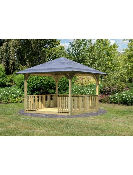 KARIBU Pavillon-Set »Cordoba«, Walmdach, viereckig, BxHxT: 357 x 297 x 357 cm