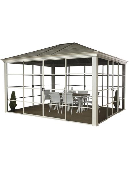SOJAG Pavillon »Striano«, Walmdach, rechteckig, BxT: 362 x 298 cm, inkl. Dacheindeckung