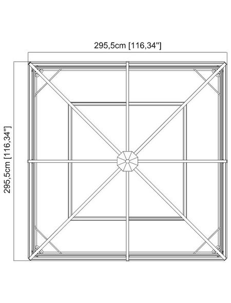 SOJAG Pavillon »Ventura«, quadratisch, BxT: 296 x 296 cm, inkl. Dacheindeckung
