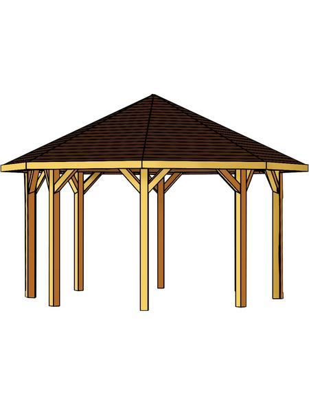 SKANHOLZ Pavillon, Zeltdach, achteckig, BxT: 557 x 557 cm