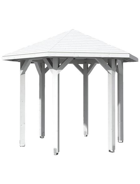 SKANHOLZ Pavillon, Zeltdach, sechseckig, BxT: 360 x 312 cm