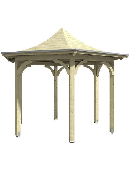 SKANHOLZ Pavillon, Zeltdach, sechseckig, BxT: 418 x 360 cm