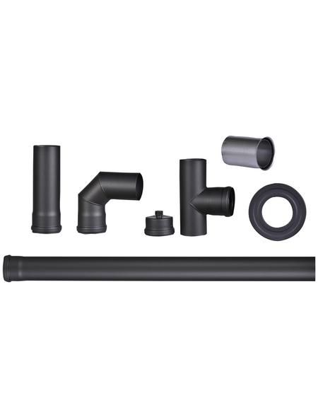 FIREFIX® Pelletrohr, Ø: 8 cm, Stärke: 1,2 mm, Stahl