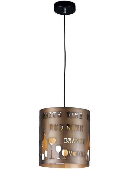 wofi® Pendelleuchte cappuccinofarben 60 W, 1-flammig, E27, ohne Leuchtmittel