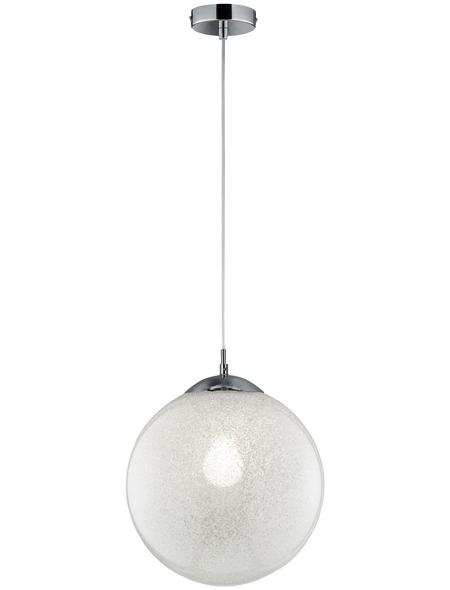 wofi® Pendelleuchte chromfarben 40 W, 1-flammig, E27, ohne Leuchtmittel