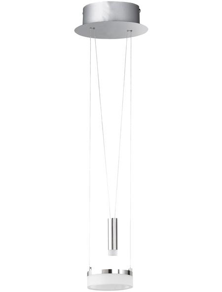 wofi® Pendelleuchte chromfarben/nickelfarben 7,5 W, 1-flammig, dimmbar, inkl. Leuchtmittel in warmweiß