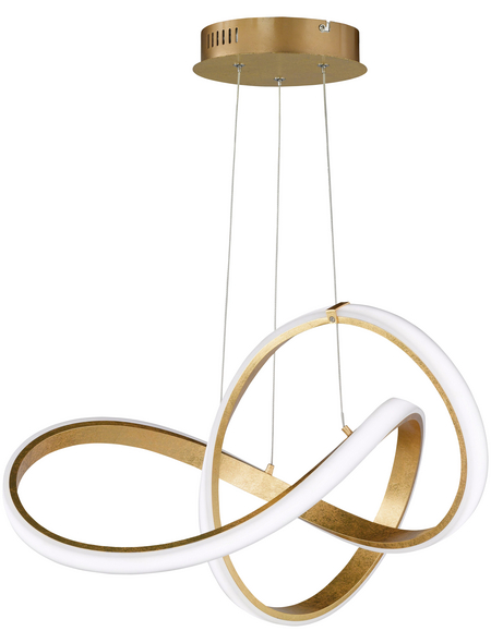 wofi® Pendelleuchte goldfarben 44 W, 1-flammig, dimmbar, inkl. Leuchtmittel in warmweiß