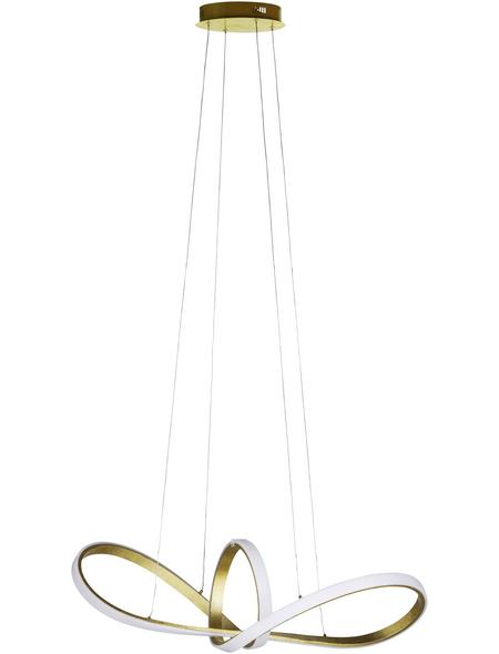 wofi® Pendelleuchte goldfarben 48 W, 1-flammig, dimmbar, inkl. Leuchtmittel in warmweiß