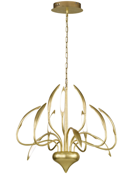 wofi® Pendelleuchte goldfarben 4,8 W, 12-flammig, dimmbar, inkl. Leuchtmittel in warmweiß