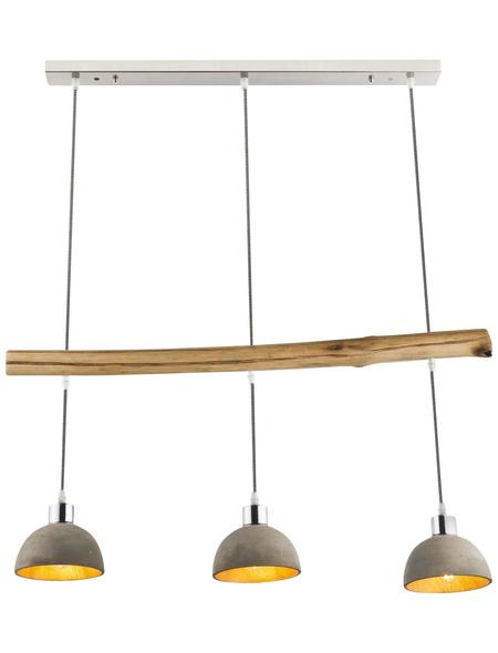 GLOBO LIGHTING Pendelleuchte »JEBEL« nickelfarben/goldfarben, 40 W, E27, ohne Leuchtmittel