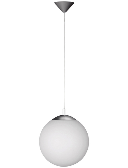wofi® Pendelleuchte nickelfarben 60 W, 1-flammig, E27, ohne Leuchtmittel